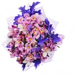 Colorful flower bouquet isolated on white background.