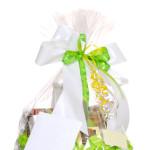 Isolated gift basket