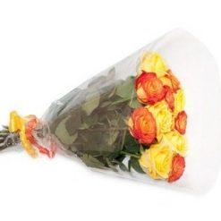 11yellow and orange roses