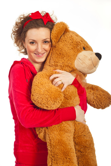 photodune 1278406 happy woman hugging big teddy bear xs 3