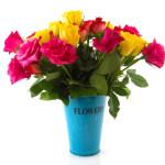 Bouquet colorful roses