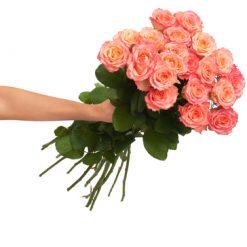 21 orange roses
