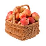 apples in woven basket